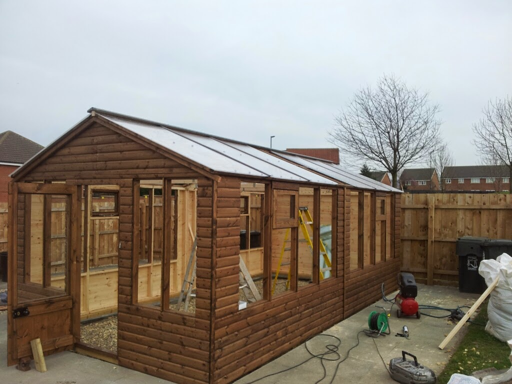 Large Wood Frame Greenhouse Apex Timber Buildings