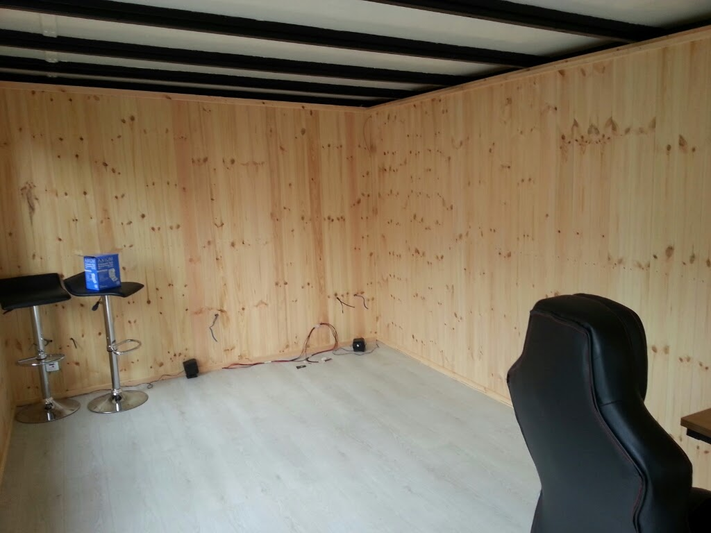 running home office. This Home Office Was Internally Clad With Vertically Running Tongue And Groove Shiplap. Y