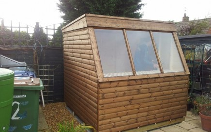 Potting shed, greenhouse