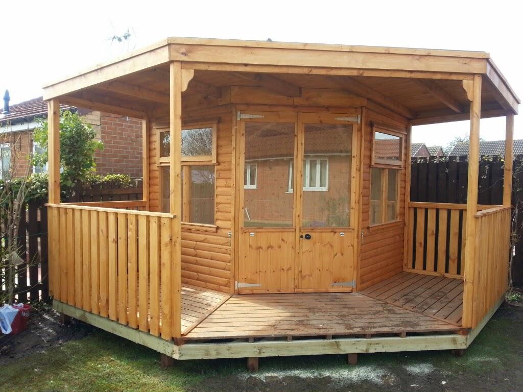 Corner Summerhouse Apex Timber Buildings - Corner summer house