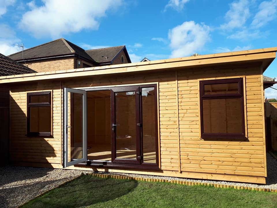 Home office apex timber buildings for Timber garden rooms