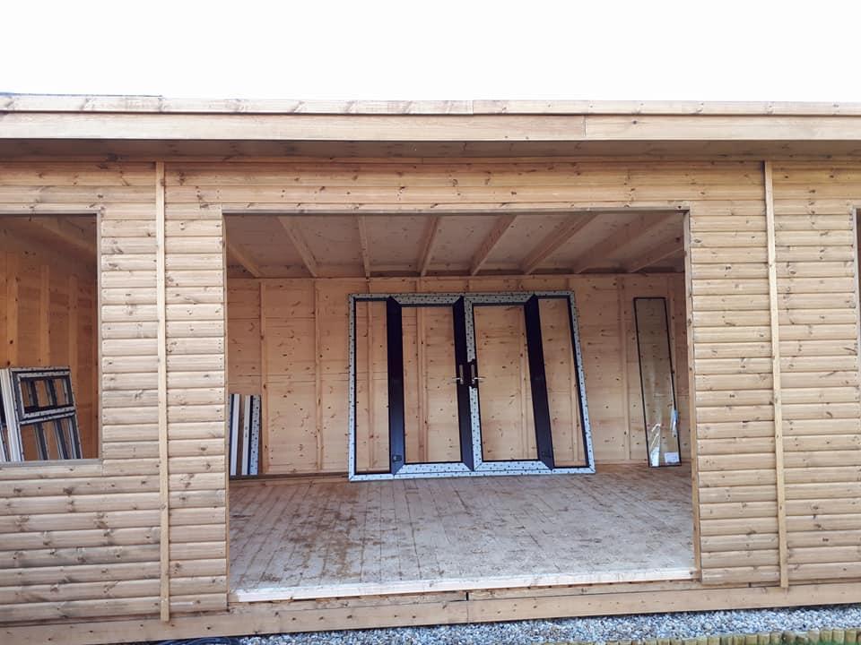 Timber garden room apex timber buildings for Upvc garden room